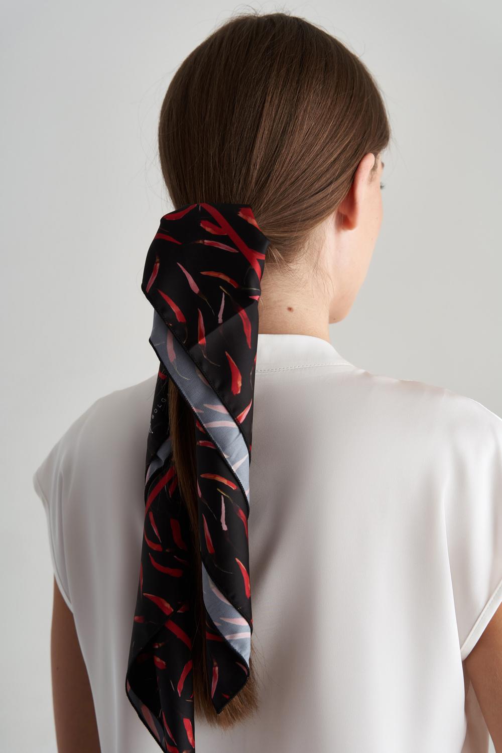 Шелковый платок с перцами купить в интернет-магазине женской одежды Natali Bolgar