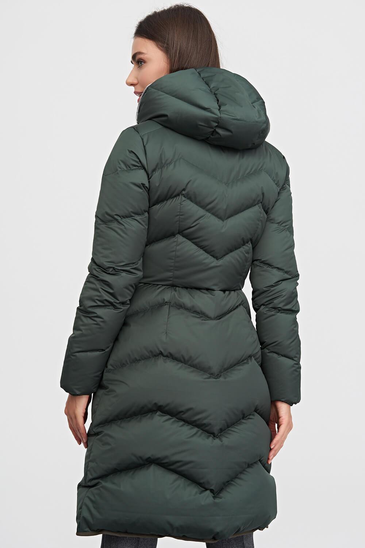 781367fef52 Пальто-пуховик с капюшоном темно-зеленого цвета 3 - интернет-магазин Natali  Bolgar ...