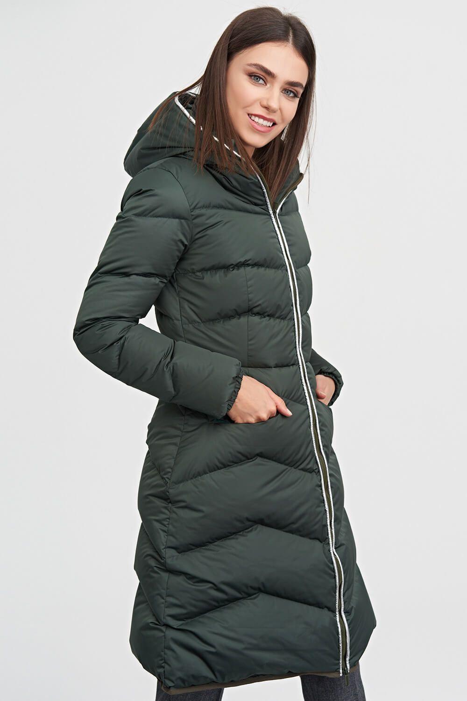 fa94043dcce ... Пальто-пуховик с капюшоном темно-зеленого цвета 1 - интернет-магазин  Natali Bolgar ...