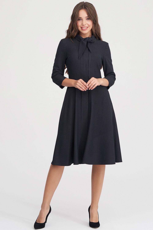 1410d479d10 Фактурное платье с расклешенной юбкой купить в интернет-магазине ...