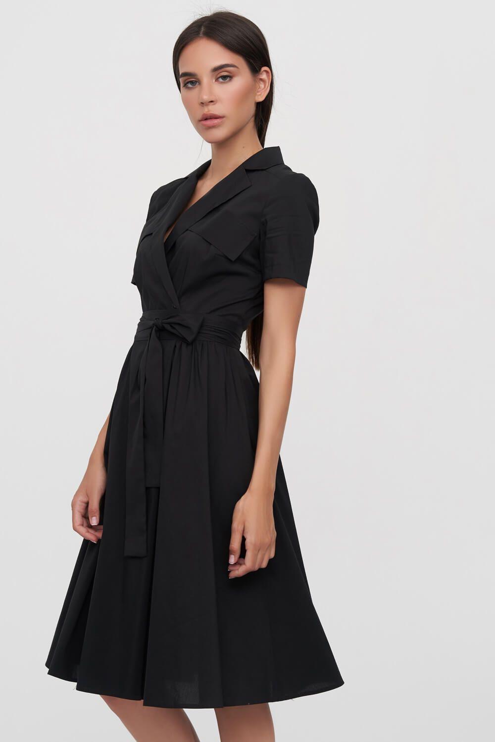 c1296d4dcedbb Платье-рубашка черного цвета 3 - интернет-магазин Natali Bolgar ...