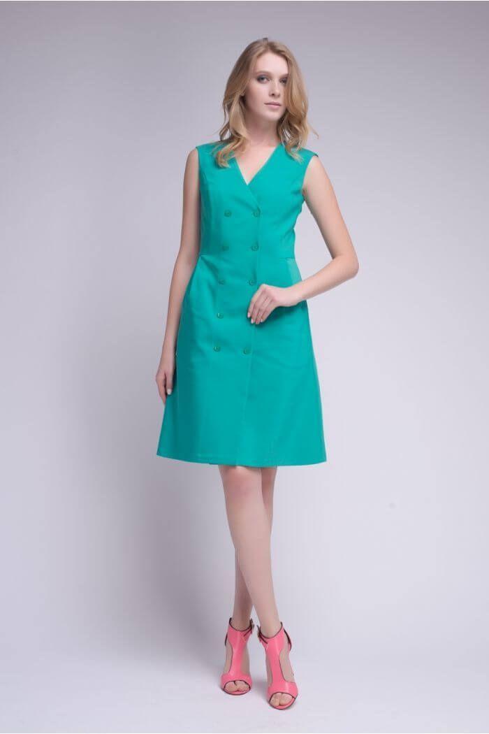 73e3369c8fbe737 Платье-халат зеленого цвета 2 - интернет-магазин Natali Bolgar ...