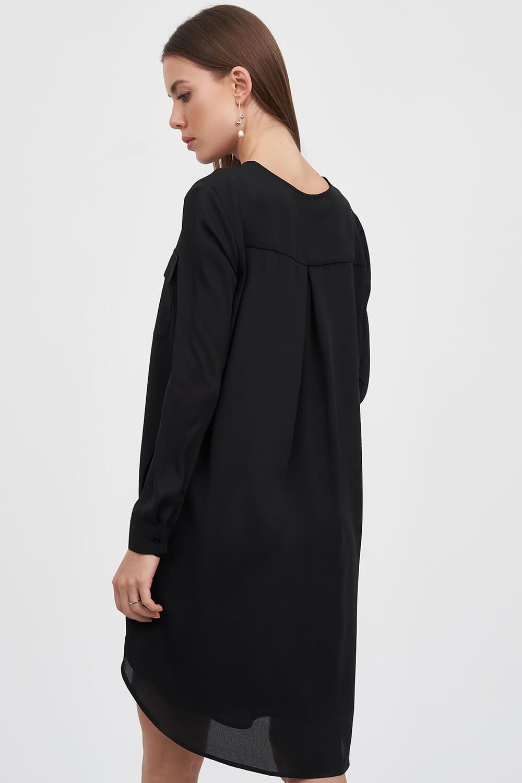 fa2b56af287b6 Платье рубашка черного цвета с поясом 3 - интернет-магазин Natali Bolgar ...