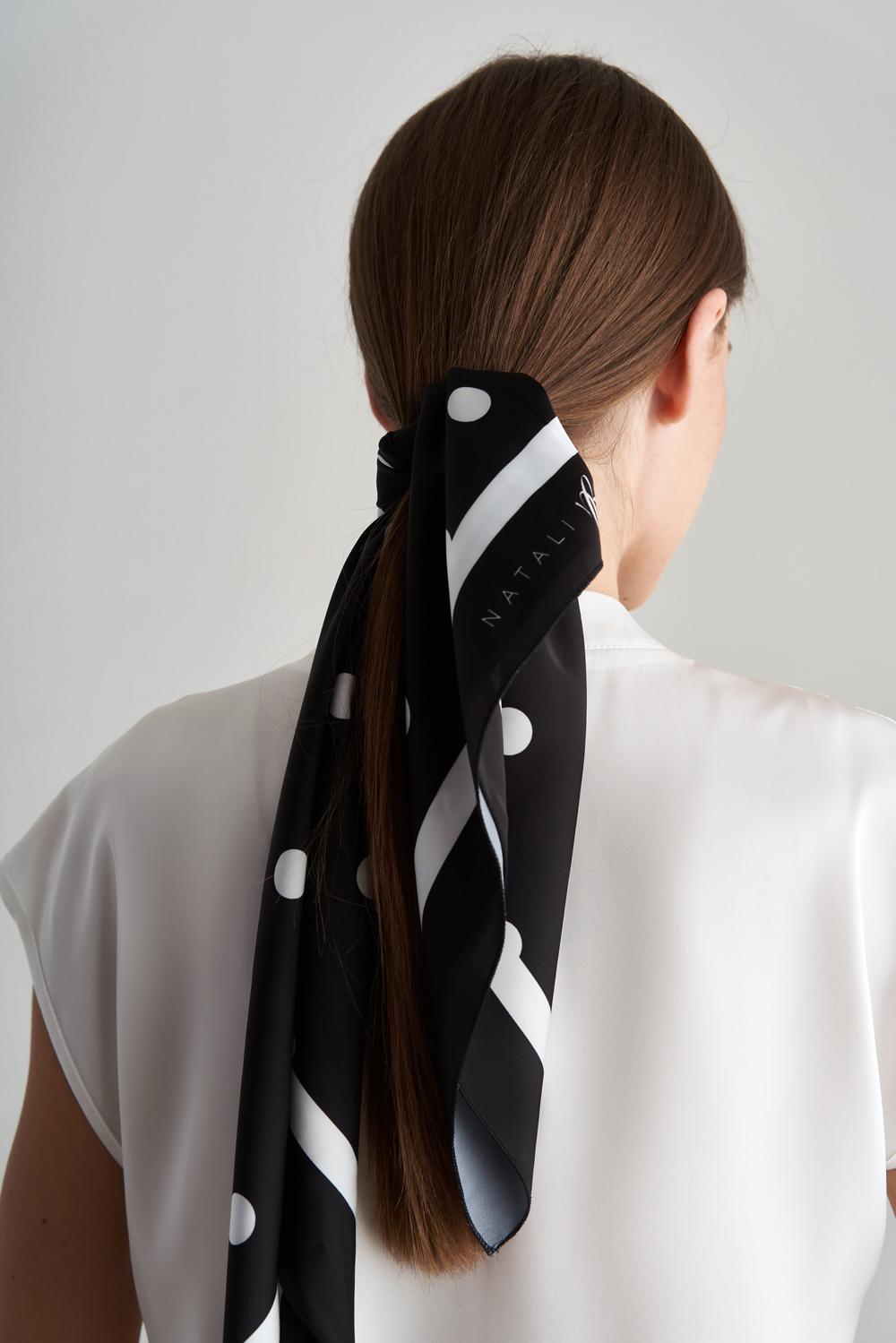 Шелковый платок в мелкий горох купить в интернет-магазине женской одежды Natali Bolgar