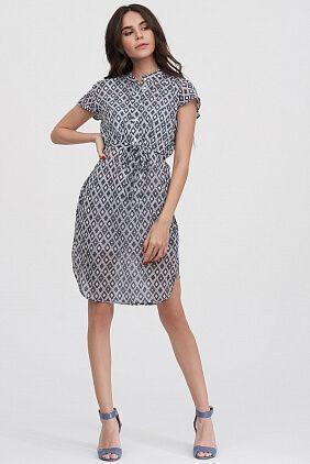 ea01cae9f19 Платье-рубашка в геометрическом принте - каталог Natali Bolgar ...