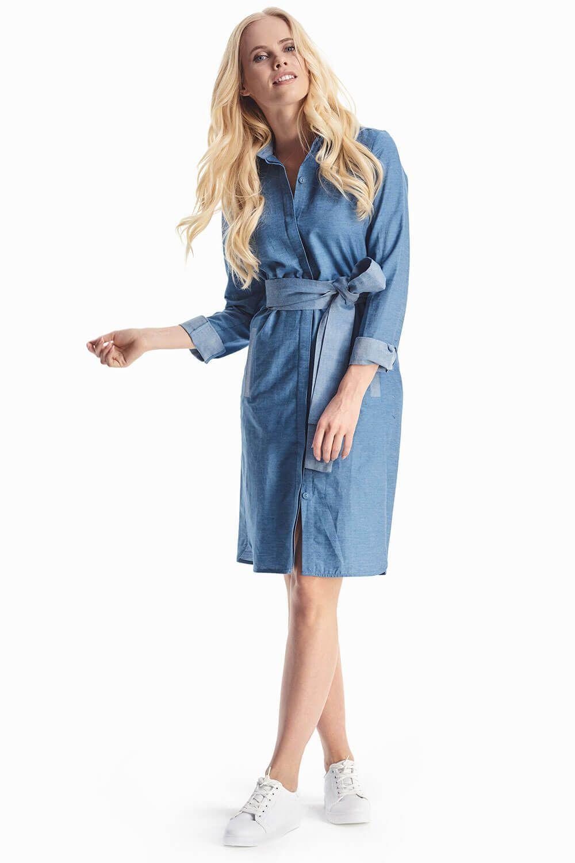 4e97dc5d7f23a35 Джинсовое платье с поясом купить в интернет-магазине женской одежды ...