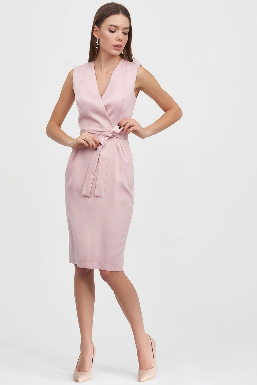 1392ef396e2 ... Платье-футляр из атласа розового цвета - интернет-магазин Natali Bolgar  ...