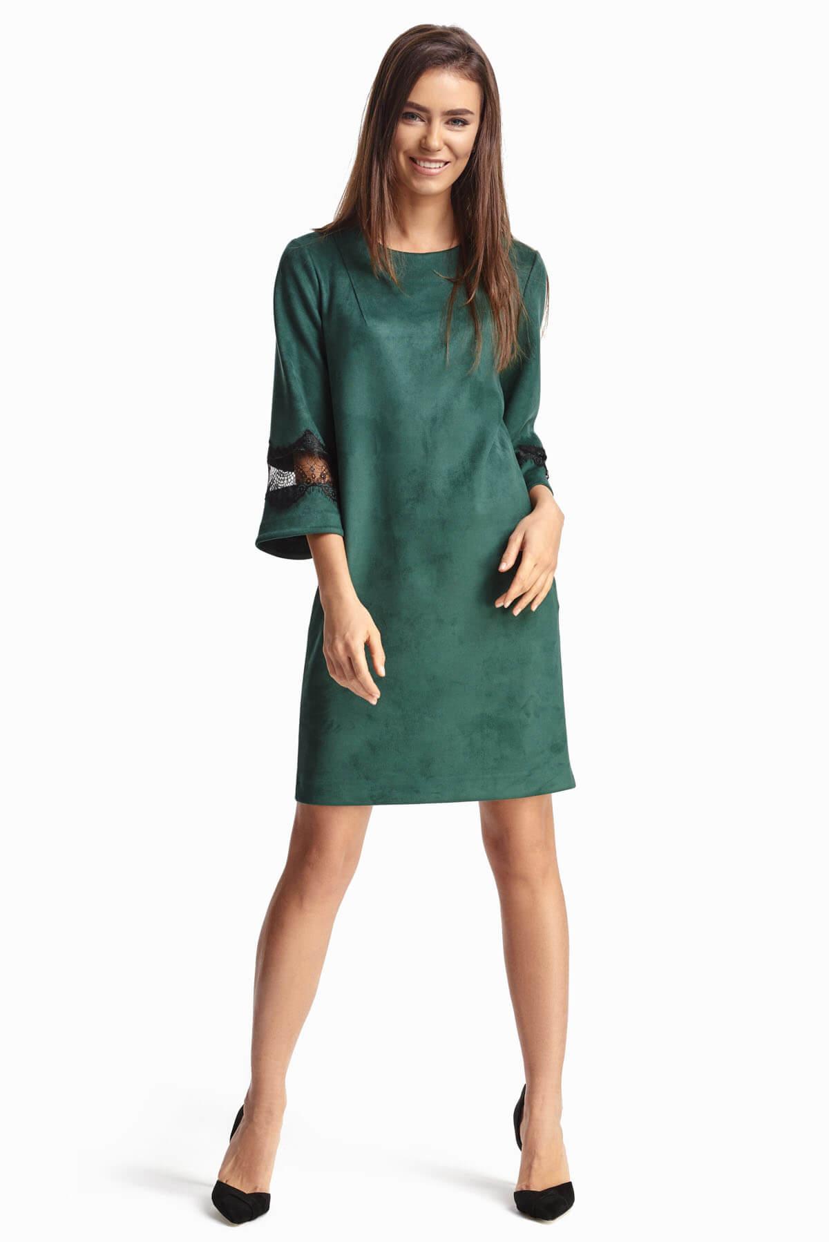 512fe4040d6 Зеленое платье с кружевными вставками 3 - интернет-магазин Natali Bolgar ...