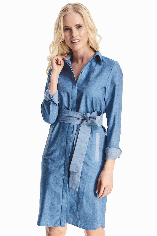 1b77d4df0e19a7c Джинсовое платье с поясом купить в интернет-магазине женской одежды ...