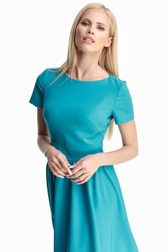 078898dfeda743a Женственное платье бирюзового цвета 3 - интернет-магазин Natali Bolgar ...